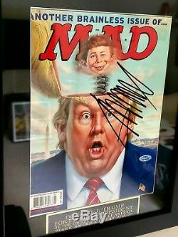 Signé Mad Magazine Potus Président Donald Trump. Autographié 1/1 Maga. Rare
