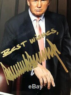 Signé Photographie Atout Républicain 45 Donald President Authentique Autograph Rare