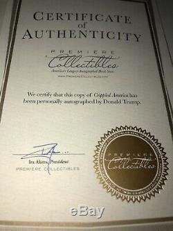 Signé President Atout Crippled America Donald Livre D'autographes 9798 Coa Signature