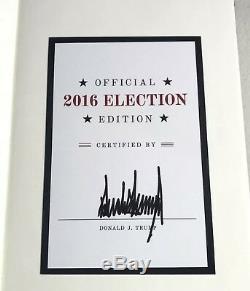 Signé Président Donald J Trump L'art De La Campagne Électorale Élection Républicaine Deal