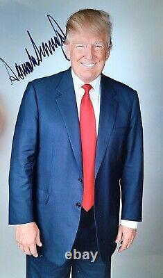Signé Président Donald Trump 8x12 Photo Autographiée Photo Avec Coa Maga