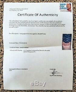 Signé Président Donald Trump Autographié America Hat De 2016 W Coa Maga USA
