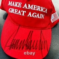 Signé Président Donald Trump Signé À La Main Maga Hat W Coa Autographié