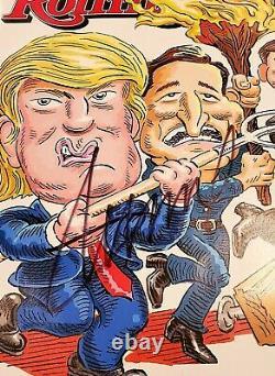 Signe Rare Président Donald Trump Complet Magazine Rolling Stone 10.03.2016 W Coa