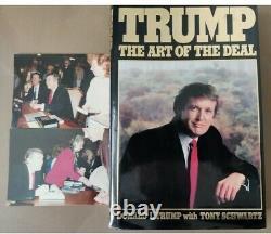 Signé Richard Première Édition Art Of Deal Président Donald Trump Authentique 1987