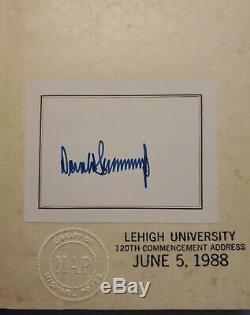 Signé Signature Authentique Autographié Président Donald Trump, Université Lehigh