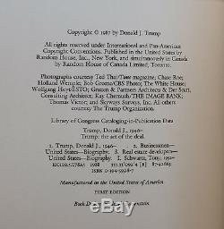 Signé True Première Édition Donald Trump Art De Thr 1er Deal 1st1987 Signé
