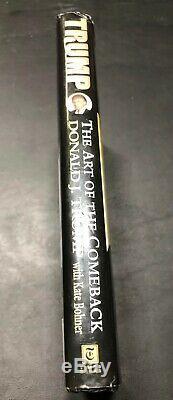 Signe Trump The Art Of The Comeback Par Donald J. Trump 1997, Relié 1st Ed
