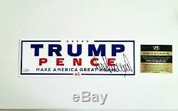 Signée À La Main-donald Trump Autographié Maga Campagne Autocollant Avec Coa Et Plus