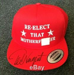 Ted Nugent Signé Dédicacé Réélisez Ce Chapeau Mère F Président Donald Trump