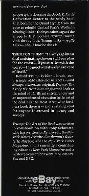Trump L'art De L'action (1987) Donald Trump Signé 1ère Édition Early Printing