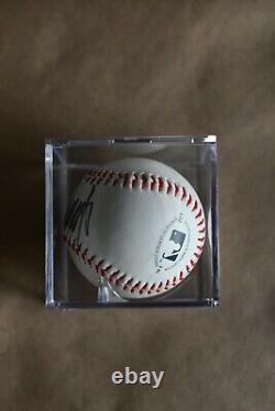 Trump Signature Signé Baseball Avec Coa