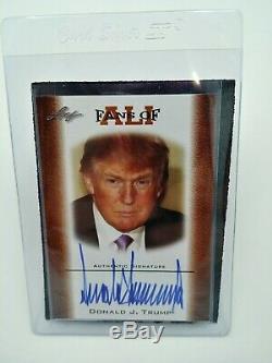 Ventilateurs De Donald Card Signés Donald Trump Par Leaf Avec Livraison Gratuite