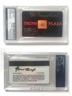 Willie Mays Signé Donald Trump Plaza Casino Card Auto Psa Adn