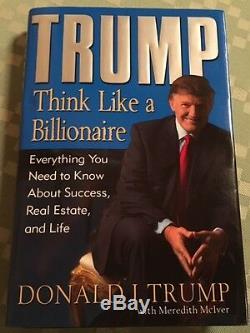 Wow Authentique & Signé Président Autographié Donald Trump Pense Comme Billionnaire